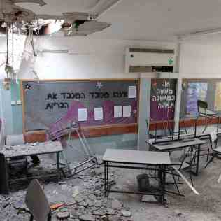 Destroyed Jewish Classroom